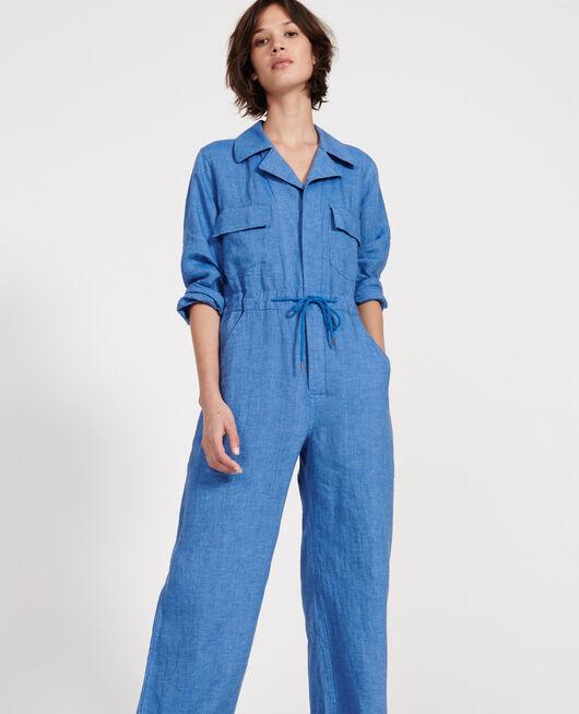 Linen jumpsuit INDIGO