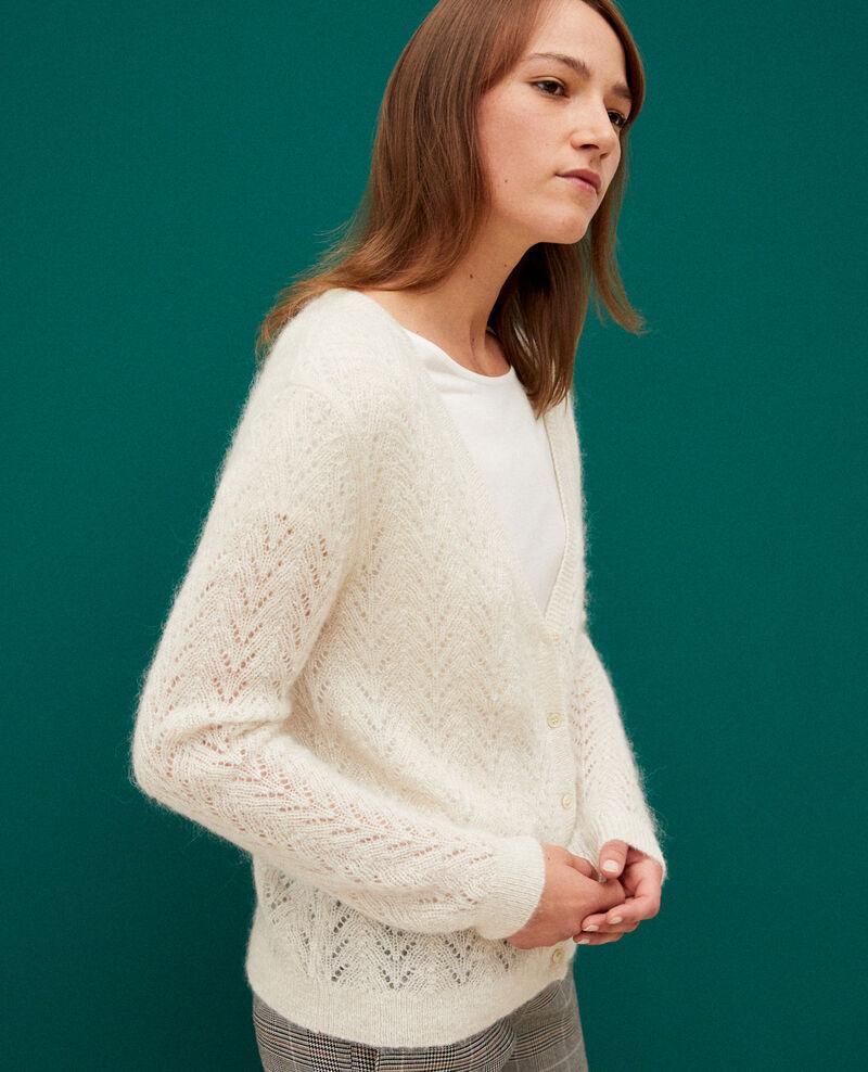 Mohair blend cardigan White Grisette