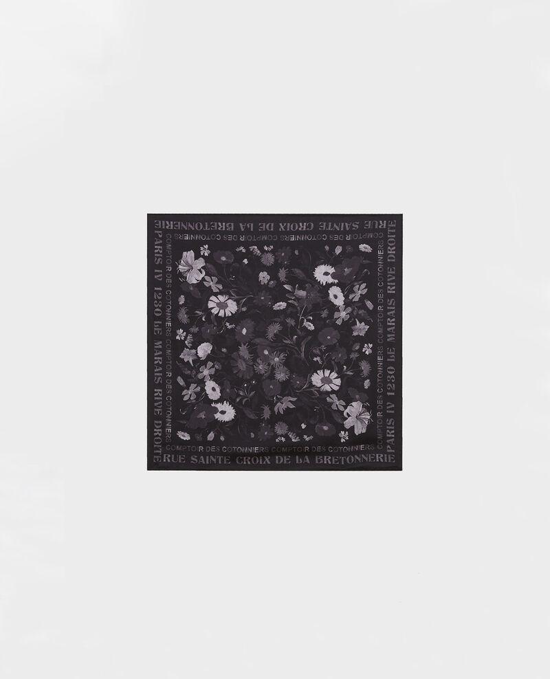 Square silk scarf Black beauty Maraiche