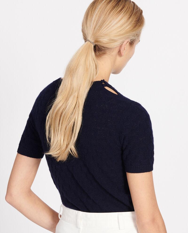 Round neck jumper, 100% Cashmere Maritime blue Lotta