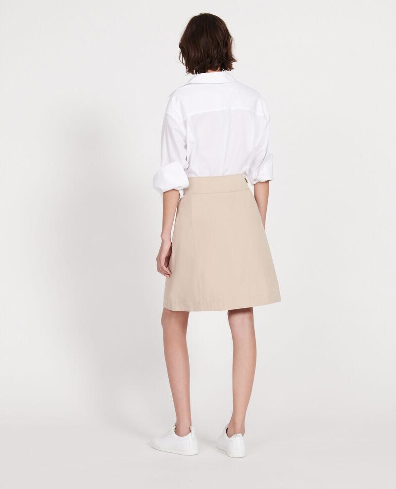 Cotton wrapover skirt Oxford tan Lyrtille