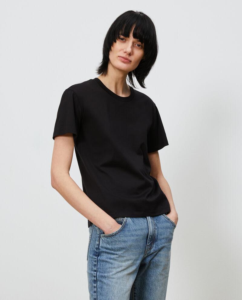 Round neck cotton t-shirt Black beauty Lirous