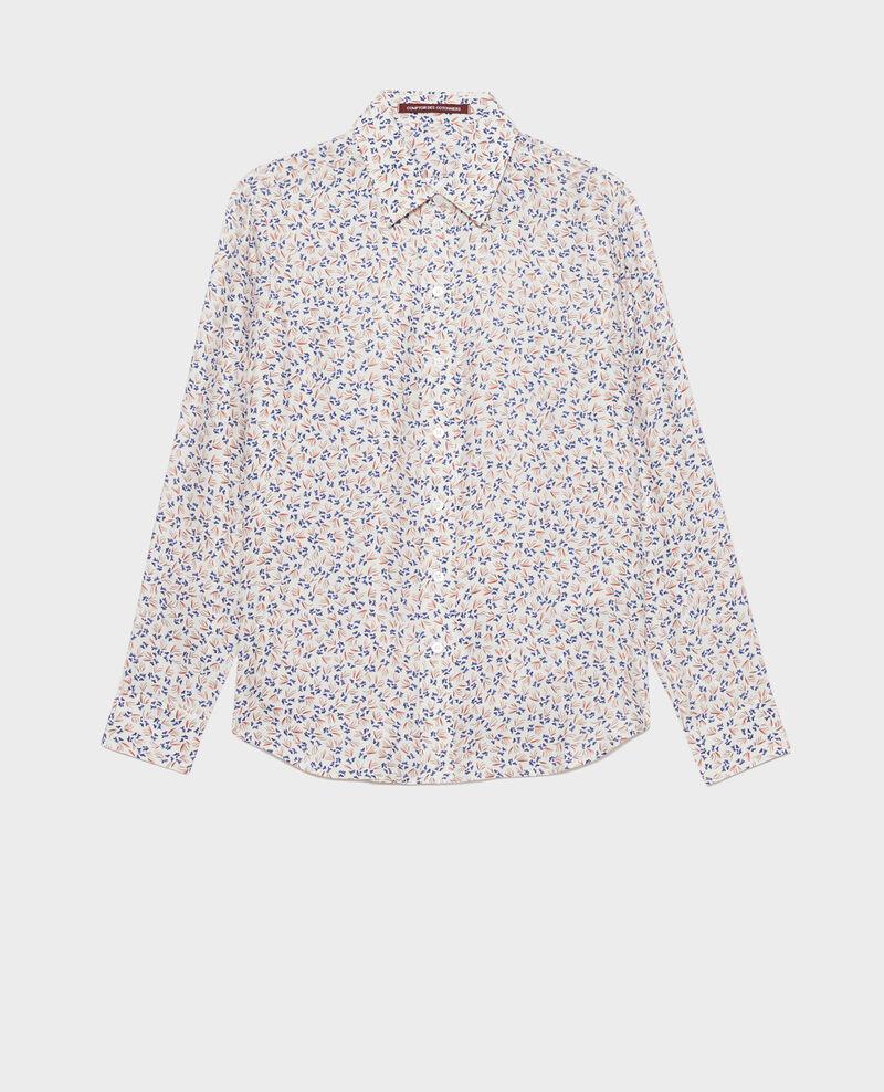 Printed silk shirt Clochette spicy Nabilo