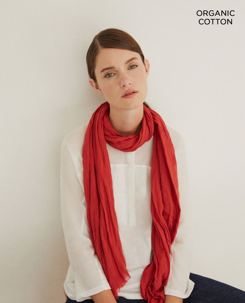 Organic cotton scarf Rouge Geste