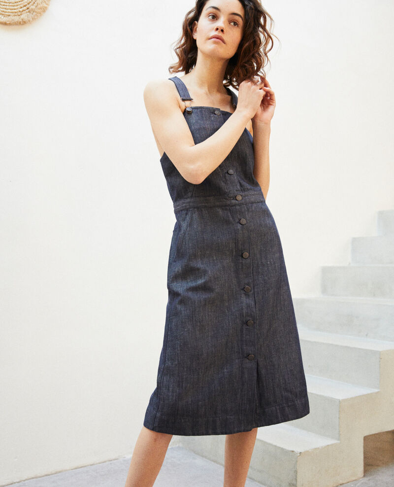 Denim pinafore dress Indigo Ibetta