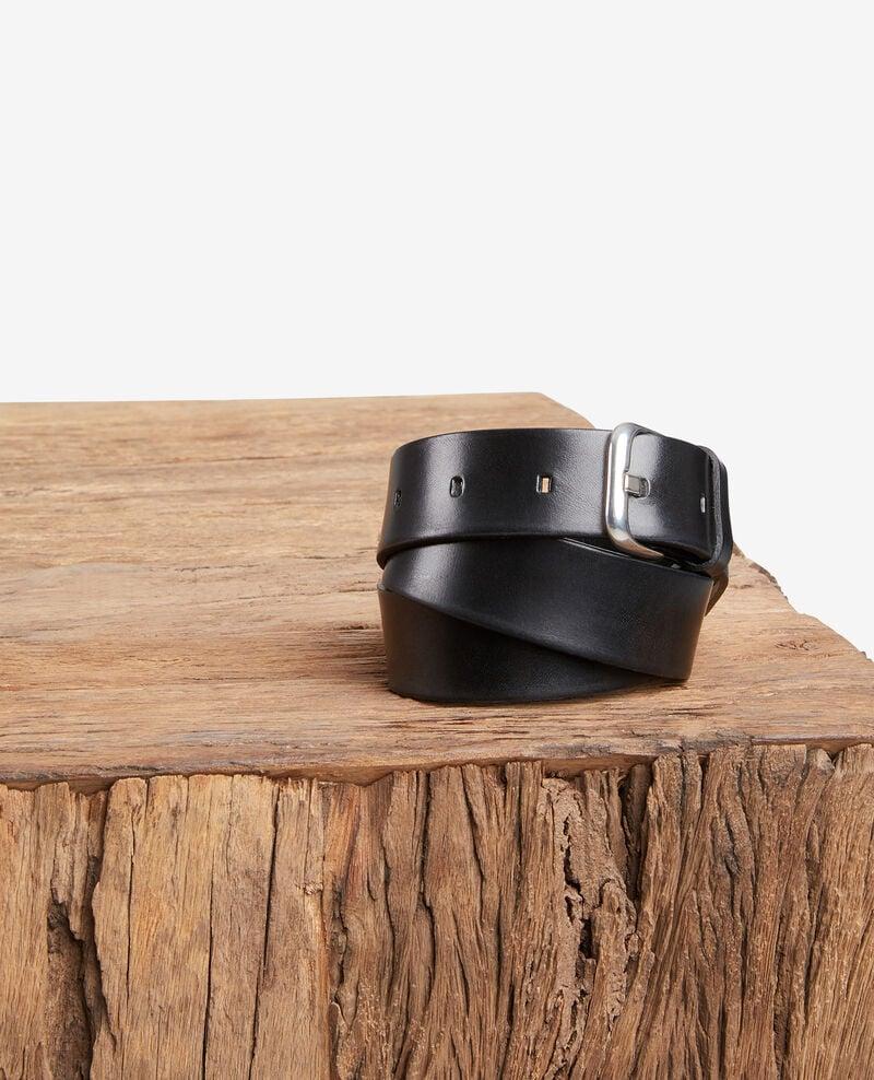 Leather belt Noir Fiable