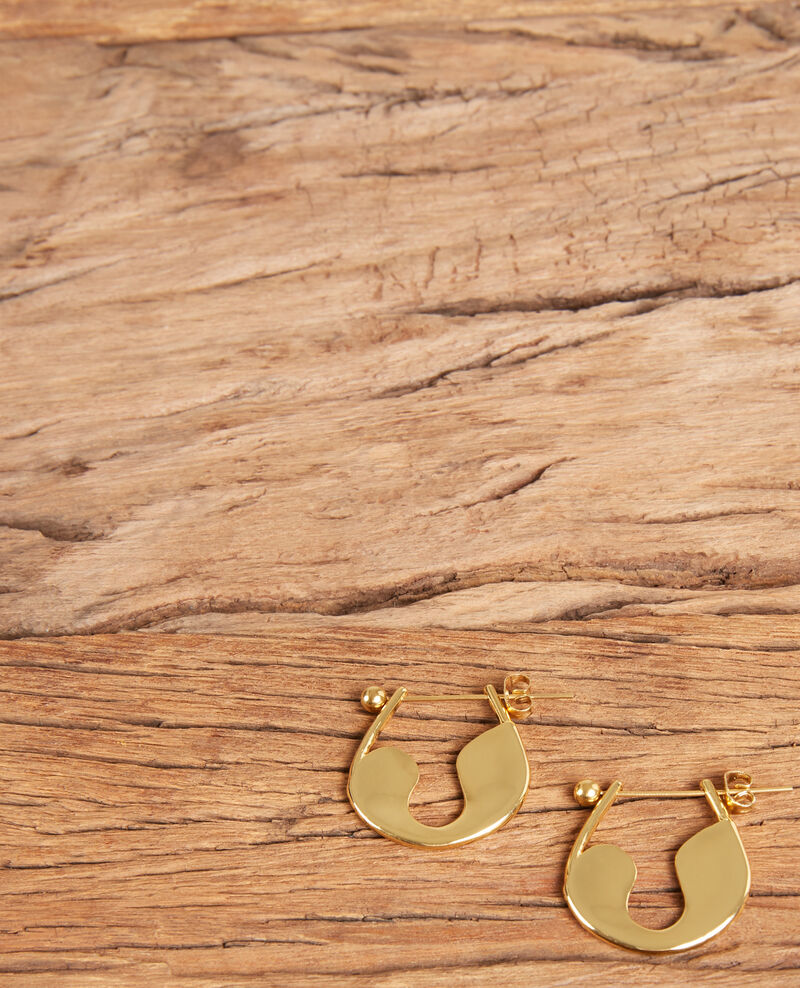 Safety pin earrings Gold Formi