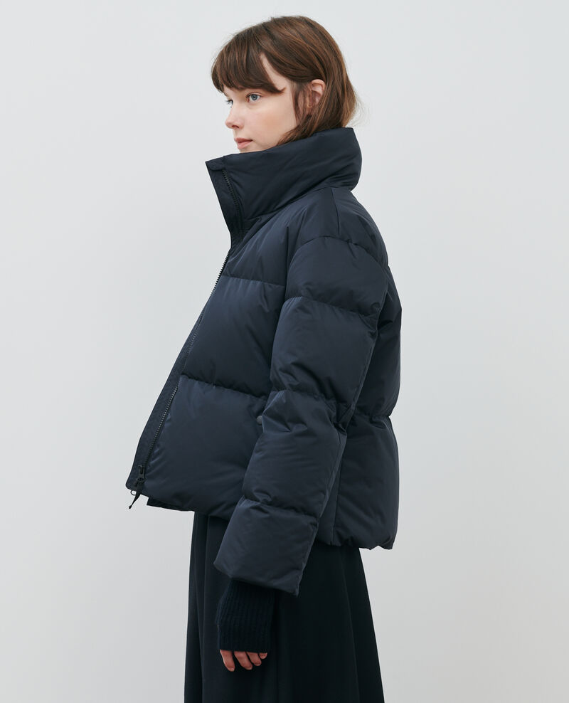 Short fitted down jacket Black beauty Maure