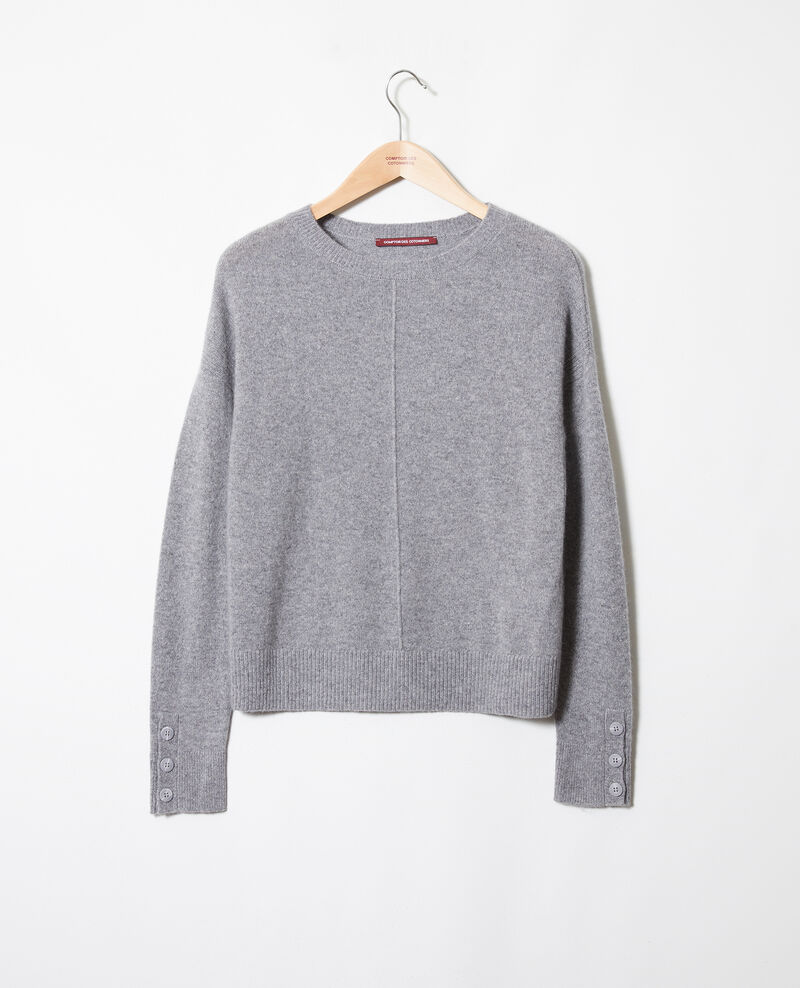 Jumper with buttons on the sleeves Light grey Jypie
