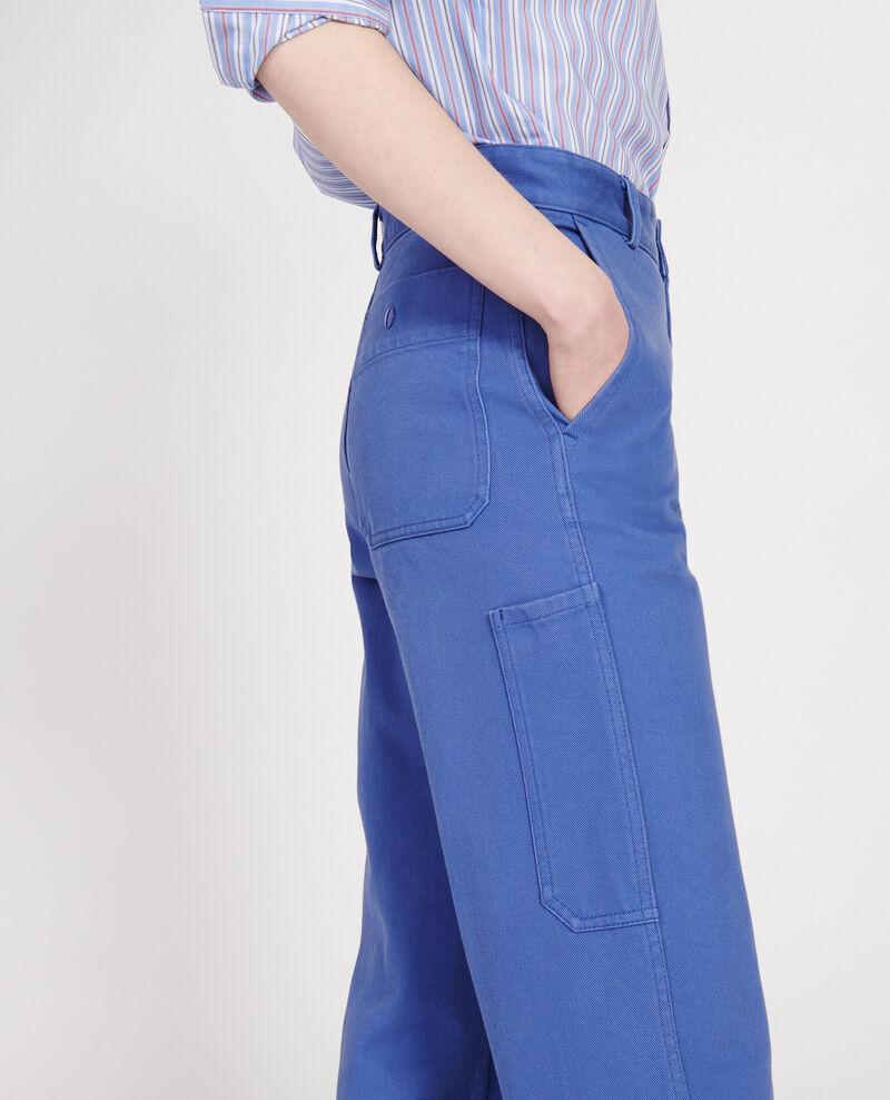 Trousers with pockets Amparo blue Laora