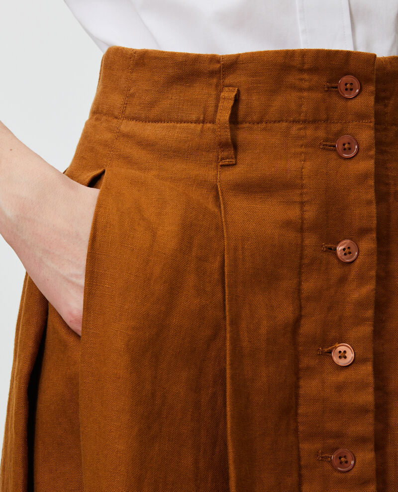 Mid-length linen skirt Monks robe Lorlange