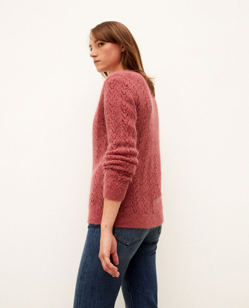 Mohair blend cardigan Earth red Grisette