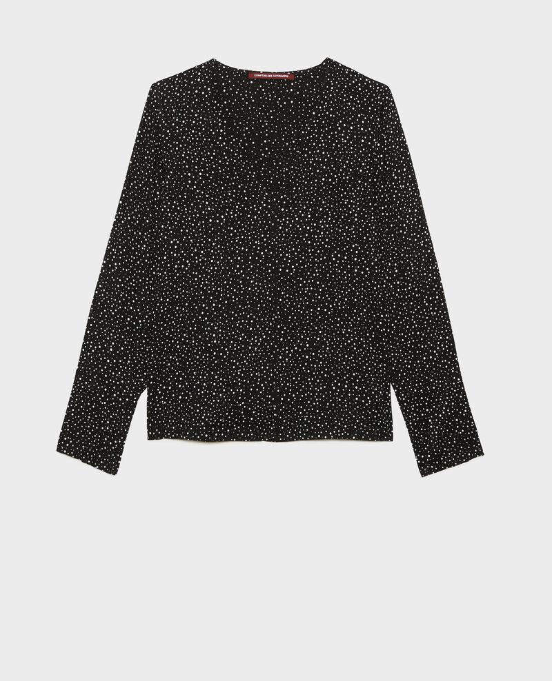 Printed long-sleeve top Print constellation black Mignon