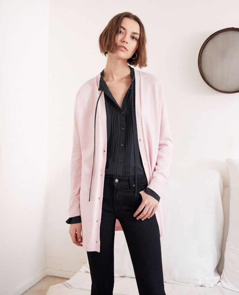 Long cardigan Pink icing Ipatique