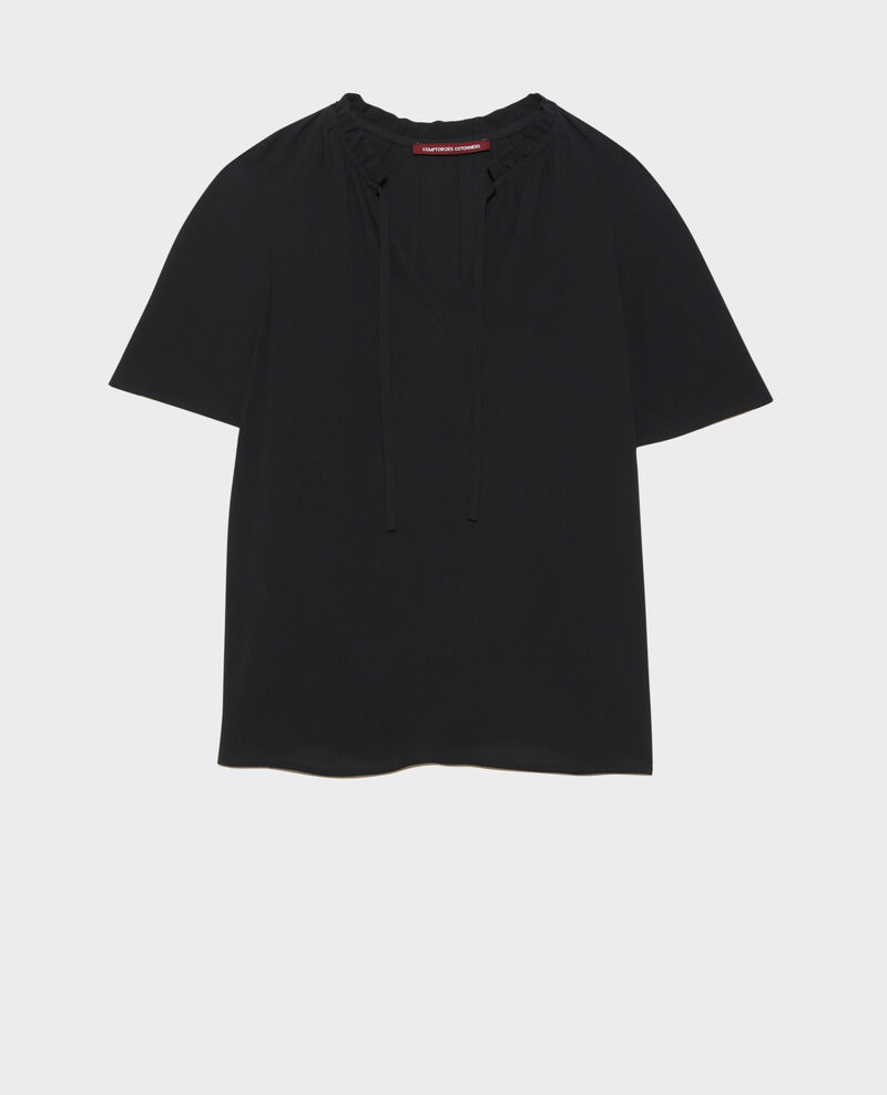 Short-sleeved blouse Black beauty Nalella