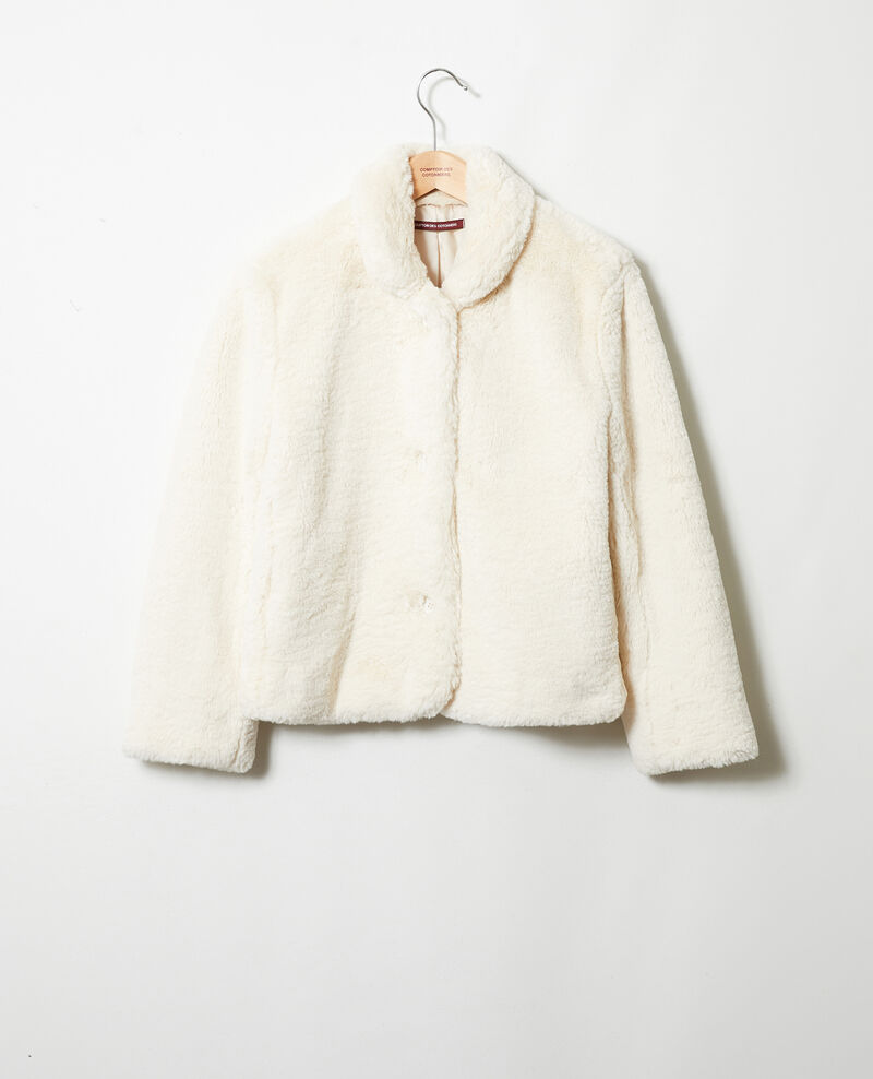 Short synthetic fur coat Off white Jakou