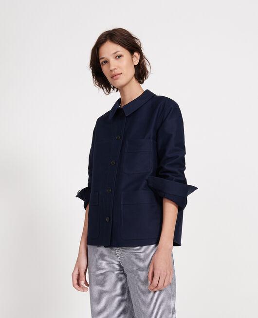 Cotton jacket MARITIME BLUE