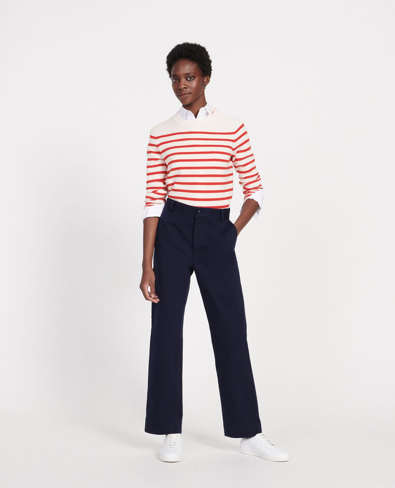 Trousers with pockets Maritime blue Laora