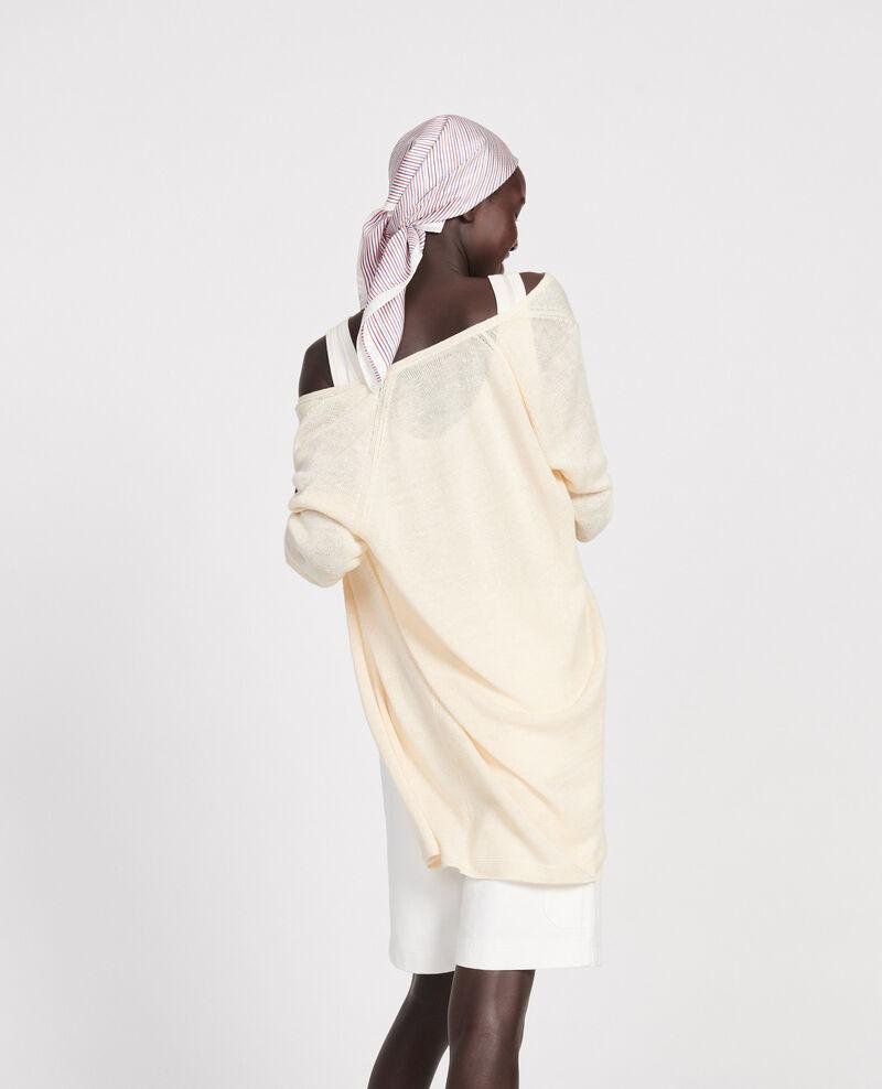 Linen cardigan Buttercream Lalima