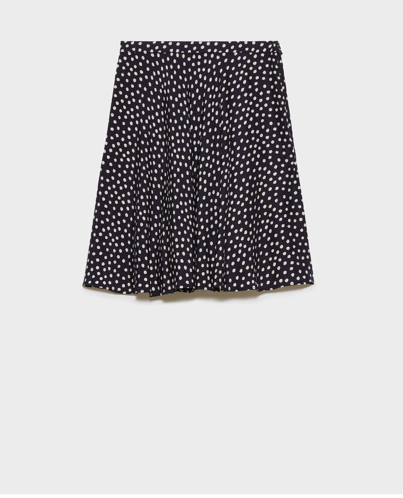Silk mini skirt Small dots Naurau
