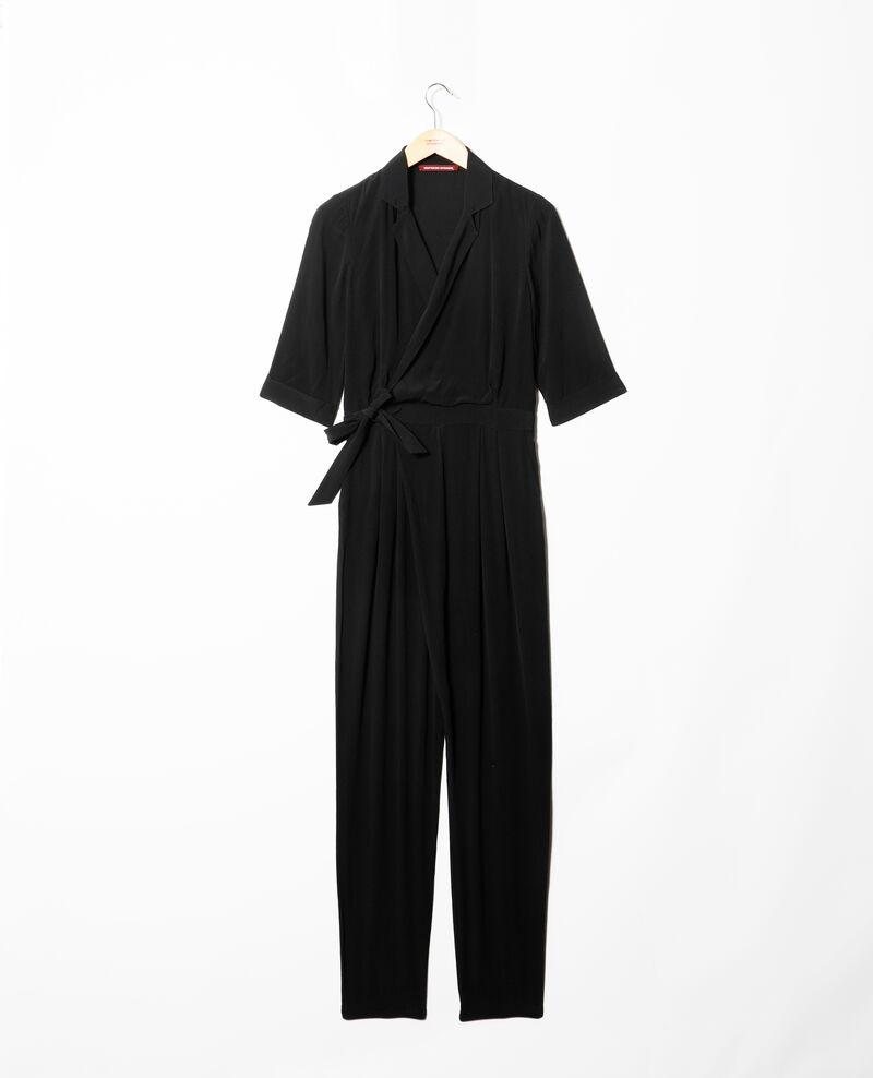 Deep neck jumpsuit Noir Giboga