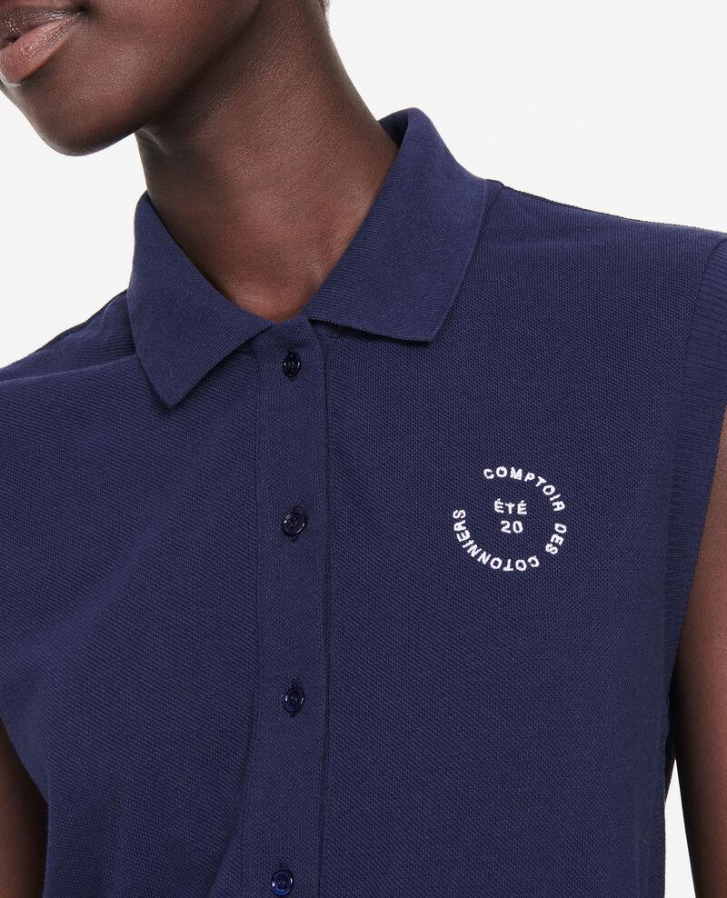 Cotton polo shirt Maritime blue Laurac