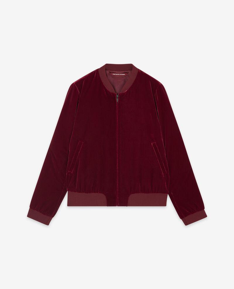 Velour bomber jacket Burgundy Dampierre