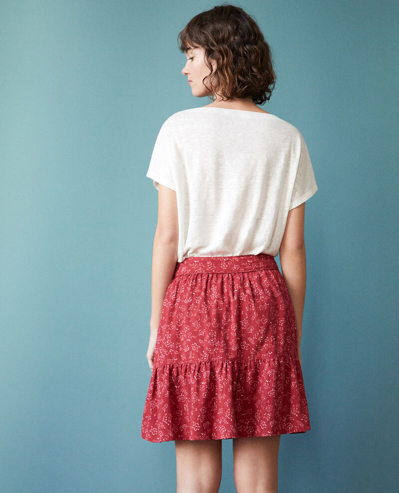 Skirt with frill Red Gaspard