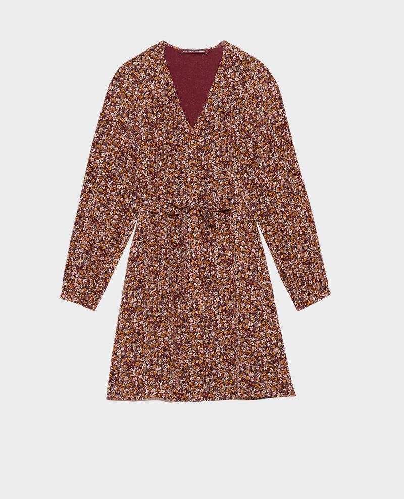 Silk mini dress Liberty cabernet Pavishy