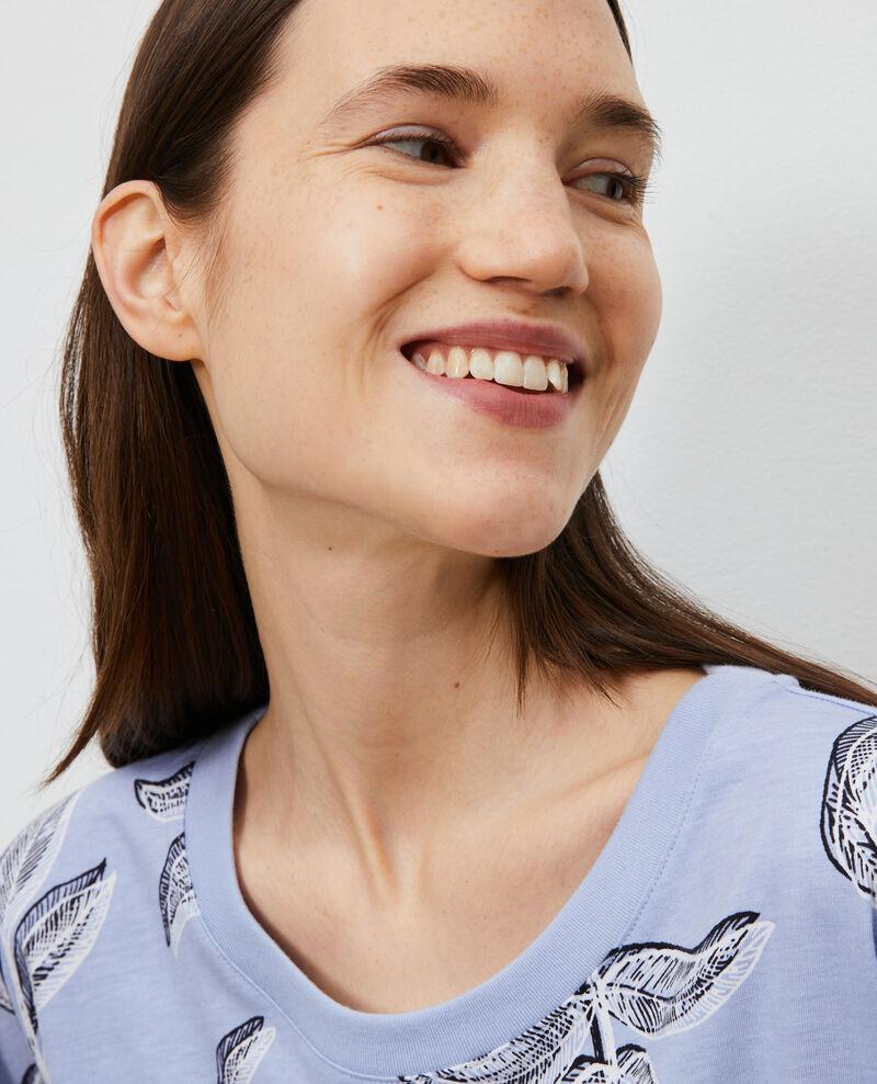 Round neck cotton t-shirt Prt bot heron Nimeric