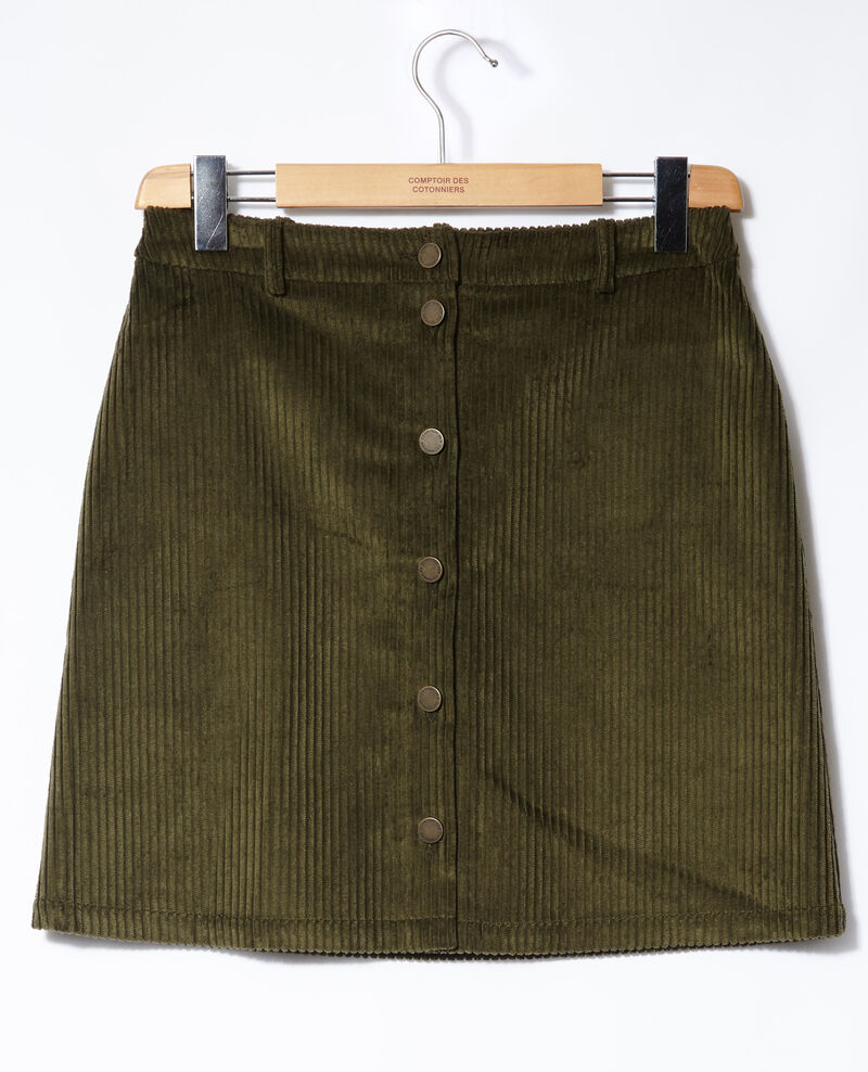 Ribbed corduroy skirt Olive night Gammon