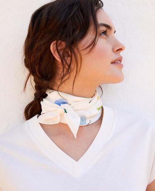 Silk scarf COEUR MULTI