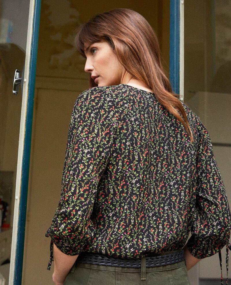 Printed blouse Daphne noir Jars