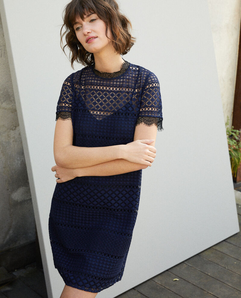 Openwork lace dress Blue Garni