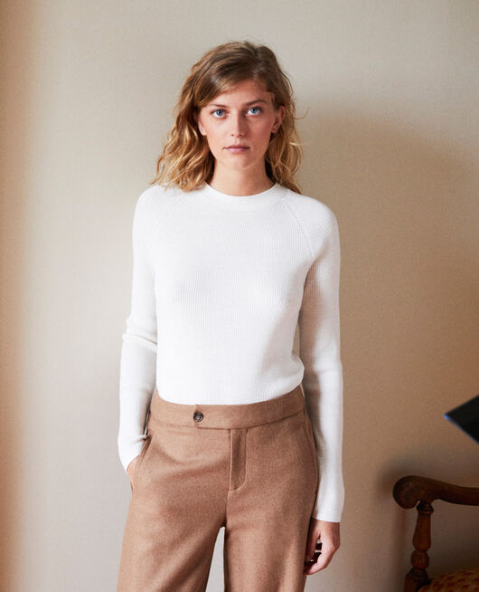 Jumper with buttons on the back OFF WHITE