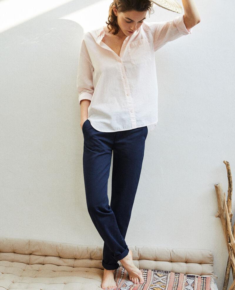 Canvas trousers Navy blazer Irouba