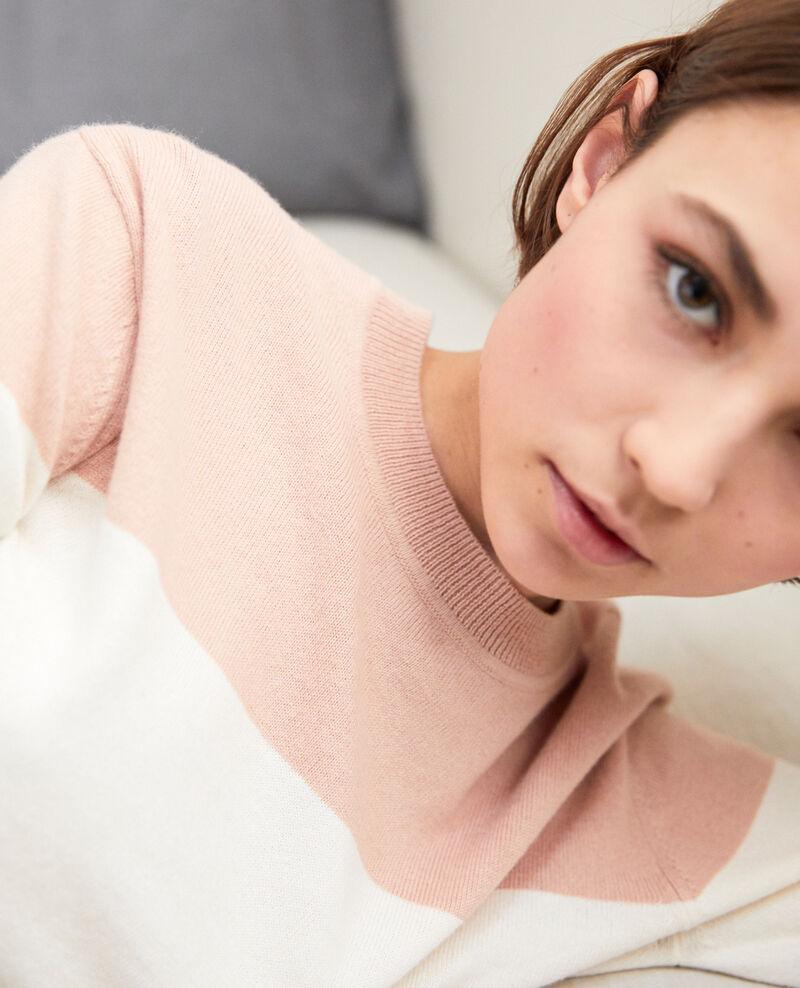 Two-tone jumper Pink beige Ilene