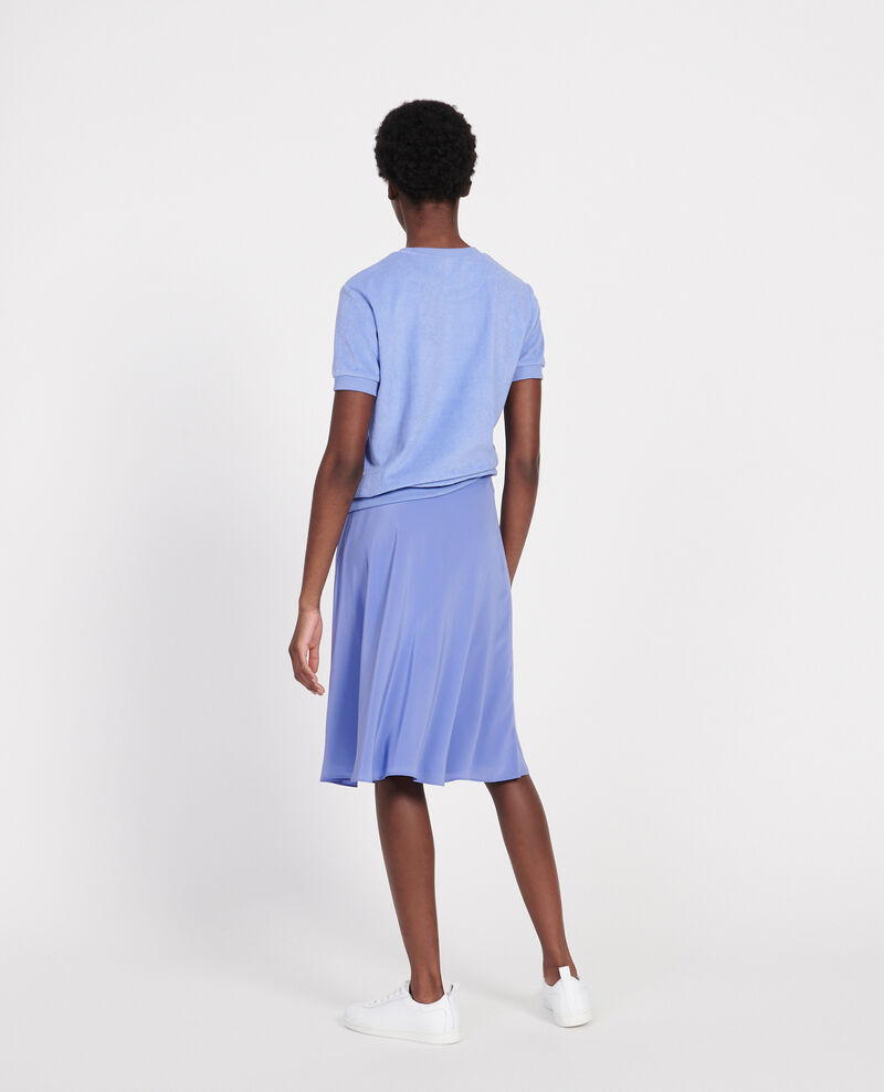 Silk A-line skirt Baja blue Lido