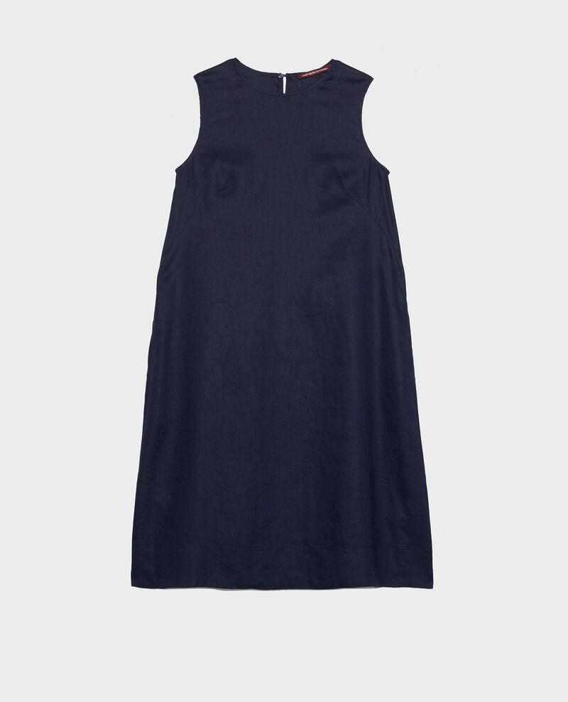 100% linen dress Maritime blue Lux