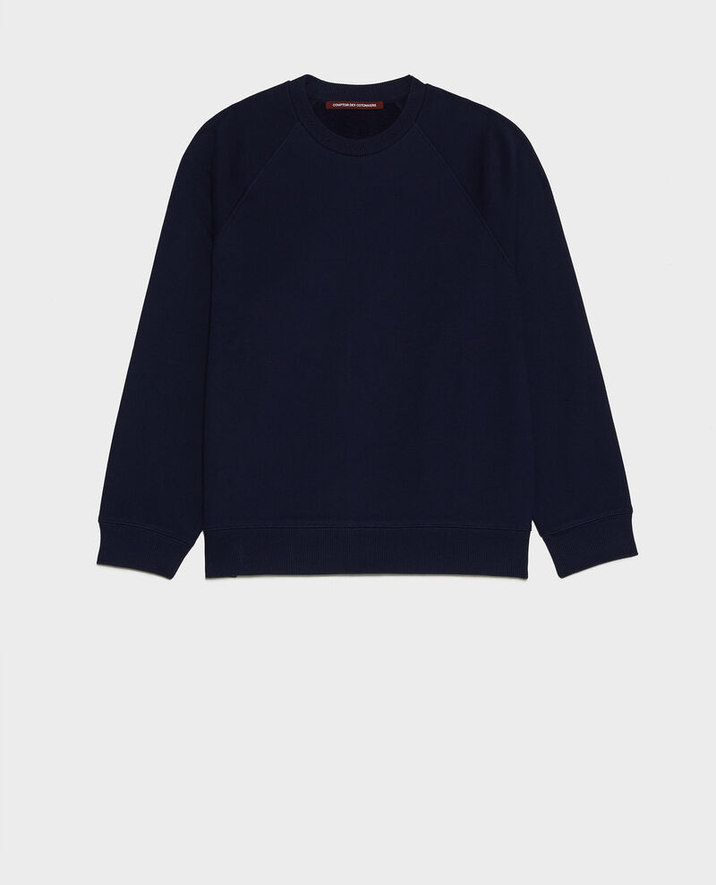 Fleece sweatshirt Maritime blue Lison
