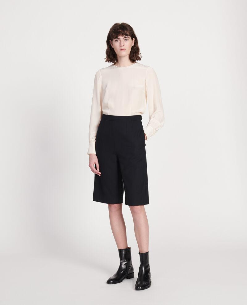 Smooth wool bermuda shorts Black beauty Lancelou
