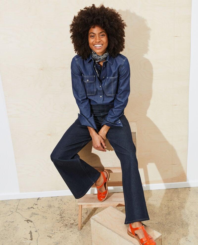 FLARE - High waisted flared jeans Denim rinse Neuflizo