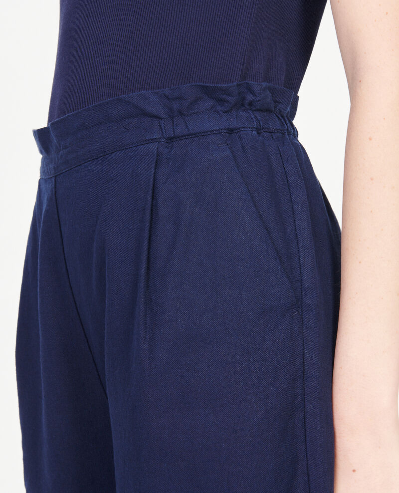Linen and cotton trousers Maritime blue Loranki
