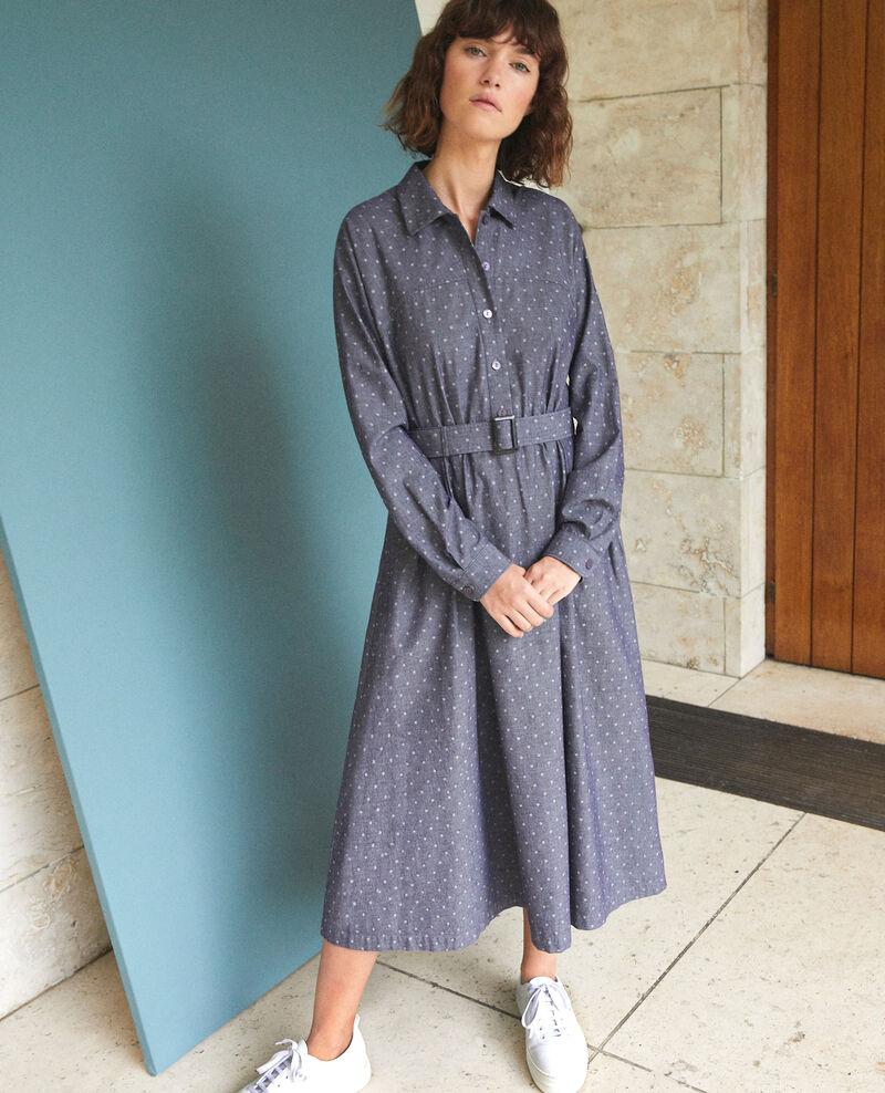 Mid-length dress Blue Goze