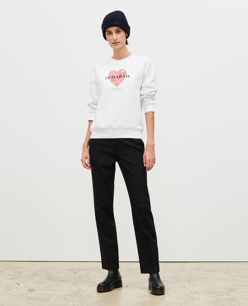 Fleece sweatshirt Brilliant white Madeleina