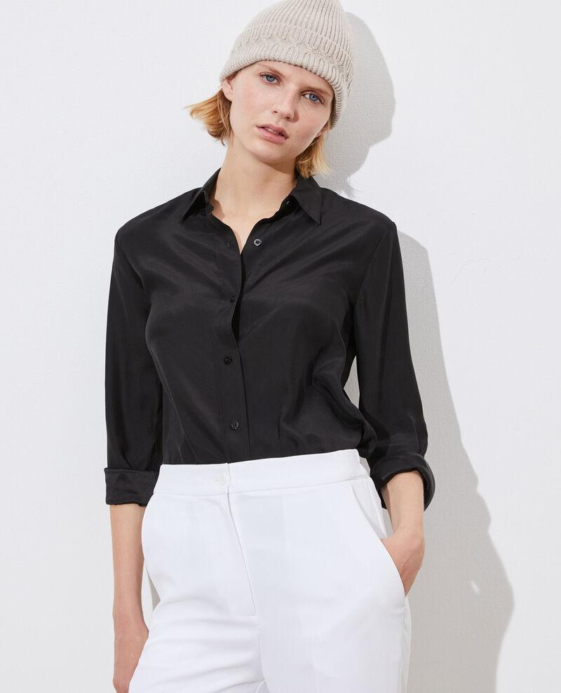 SIBYLLE - Silk shirt Black beauty Loriges