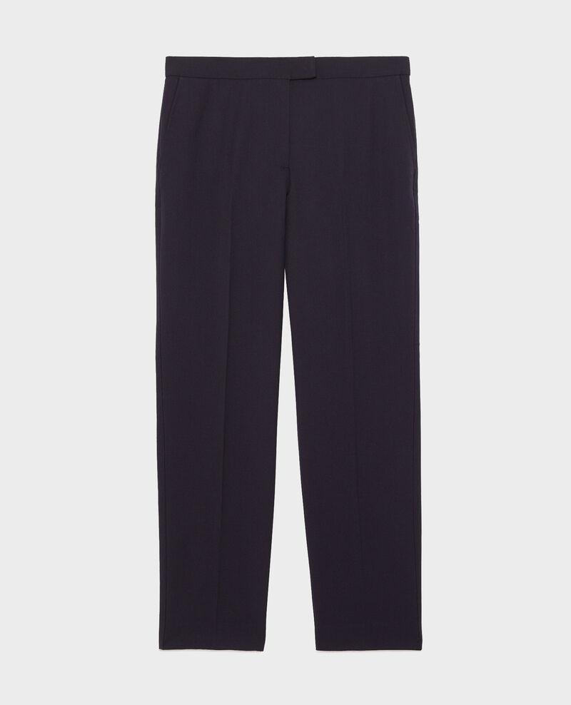 Wool 7/8 cigarette pants MARGUERITE Night sky Moko