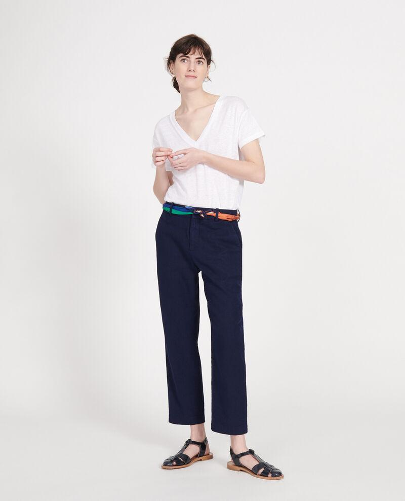 Linen trousers Maritime blue Laiguillon