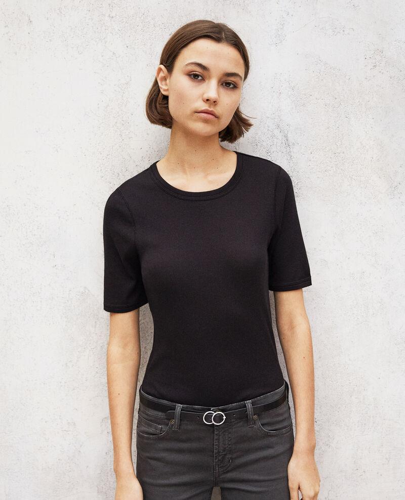 Leather belt Noir Idoubli