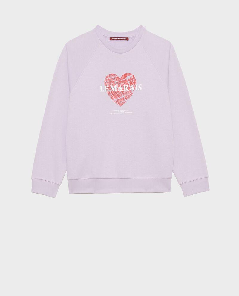 Fleece sweatshirt Pastel lilac Madeleina